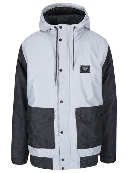 Černo-šedá pánská bunda Funstorm Doan