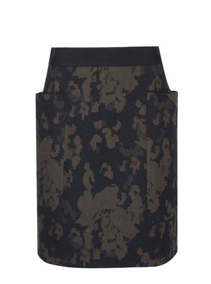 Khaki-černá sukně Closet