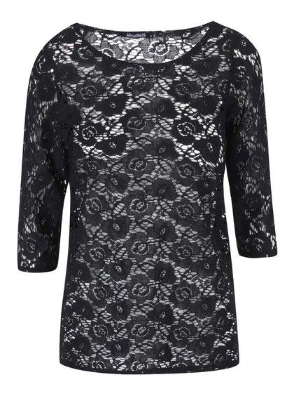 Bluză din dantelă cu mâneci trei-sferturi - Haily Tracy - Negru