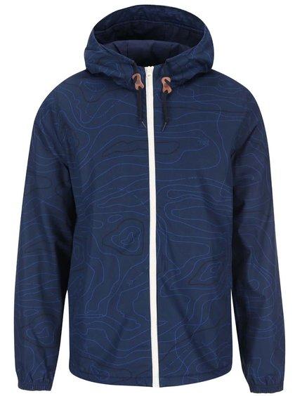 Tmavě modrá vzorovaná bunda s kapucí Element Alder