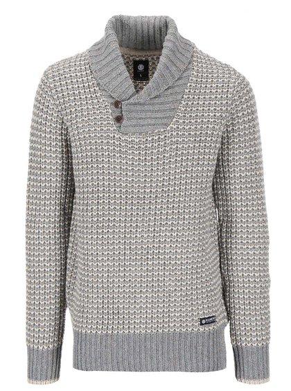 Krémovo-sivý sveter s golierom Element Denali