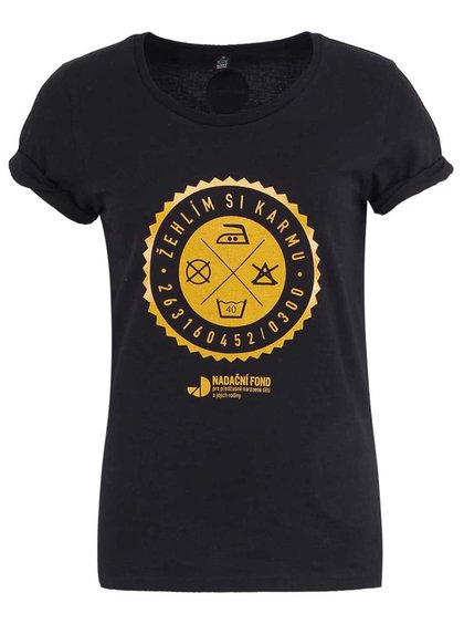"""""""Dobré"""" čierne dámske tričko pre Nadačný fond pre predčasne narodené deti"""
