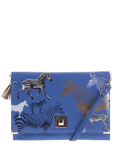 Modré psaníčko se zebrami Disaster Clutch