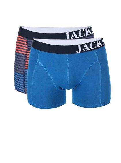 Kolekcia dvoch modrých a pruhovaných boxeriek Jacks