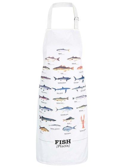 Krémová zástera s potlačou rýb Gift Republic