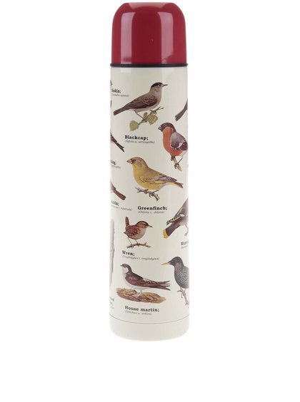 Termos cu imprimeu cu păsări Gift Republic
