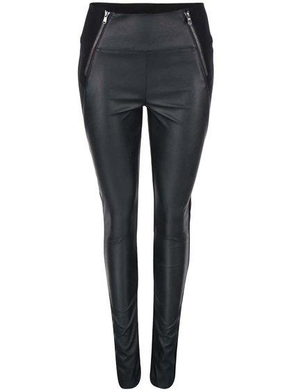 Černé kalhoty se zipy ONLY Nanna