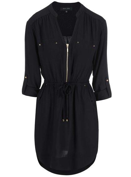 Černé šaty na zip New Look