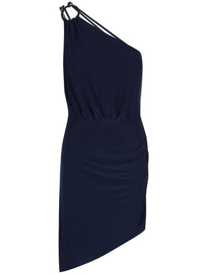 Tmavomodré šaty cez rameno Lipstick Boutique Perry