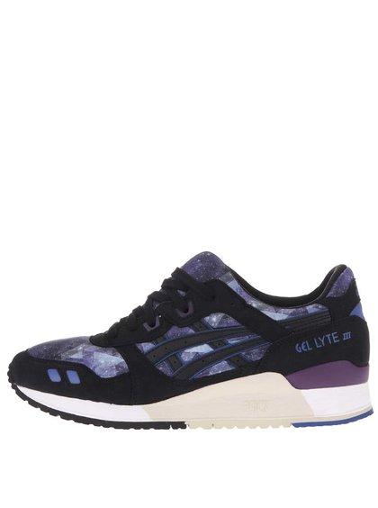Čierno-fialové dámske tenisky s detailmi ASICS Gel Lyte III