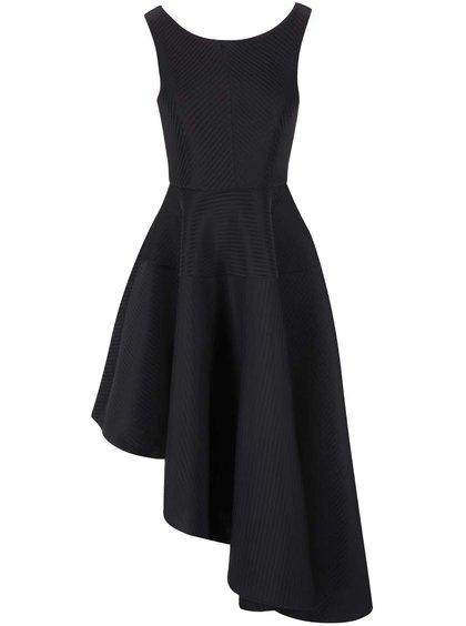 Černé šaty s asymetrickou sukní Goddiva