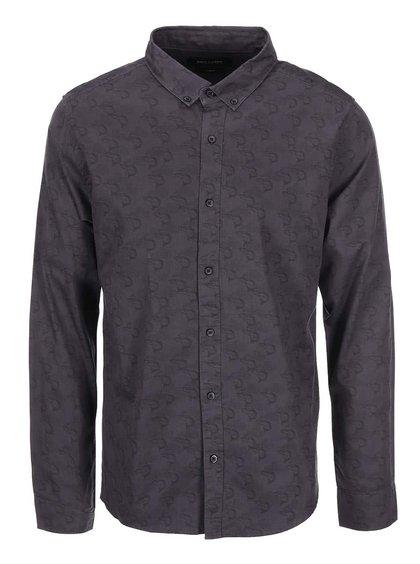 Fialovo-sivá rifľová vzorovaná košeľa ONLY & SONS Christopher