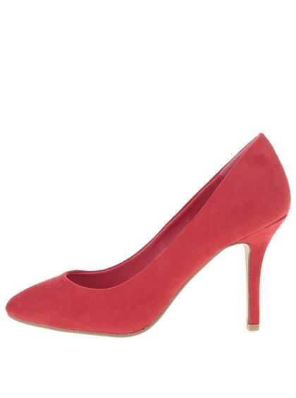 Červené lodičky na ihličkovom podpätku Dorothy Perkins