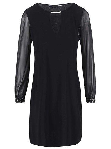 Čierne šaty so šifónovými rukávmi Dorothy Perkins