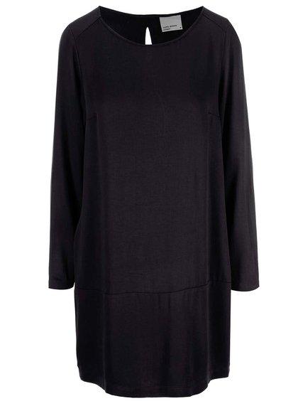 Černé šaty s dlouhým rukávem VERO MODA Measy
