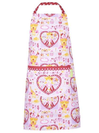 Ružová detská bavlnená zástera Cooksmart Chef Princess