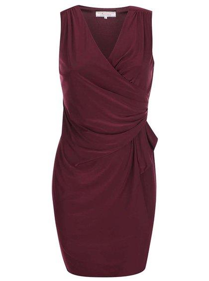 Vínové šaty šaty s řasením Billie & Blossom Curve