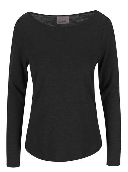 Čierne tričko s dlhým rukávom VERO MODA Hope
