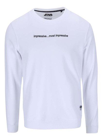 Bluză de trening Falcon albă cu imprimeu de la Jack & Jones