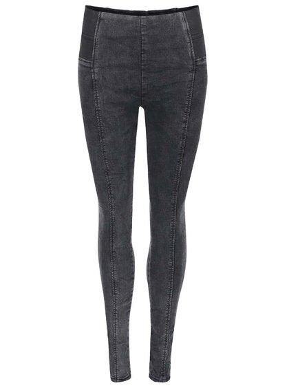 Černé skinny džíny s gumou v pase Haily´s Jayla