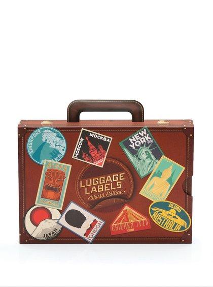 Kolekcia 17 cestovateľských samolepiek Luckies