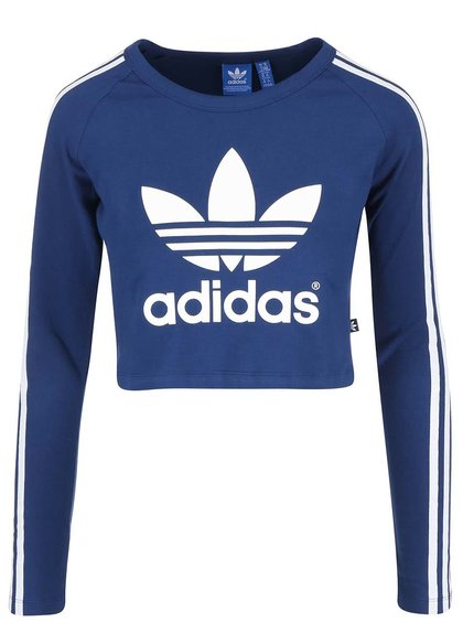 Modré krátké tričko s dlouhými rukávy adidas Originals Paris