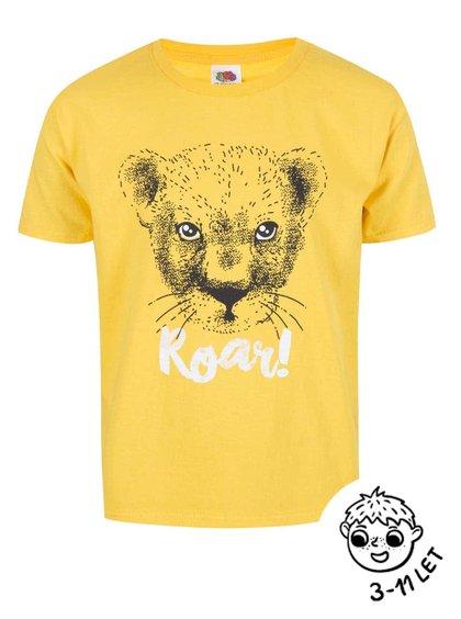 Žluté klučičí triko ZOOT Kids Lvíček