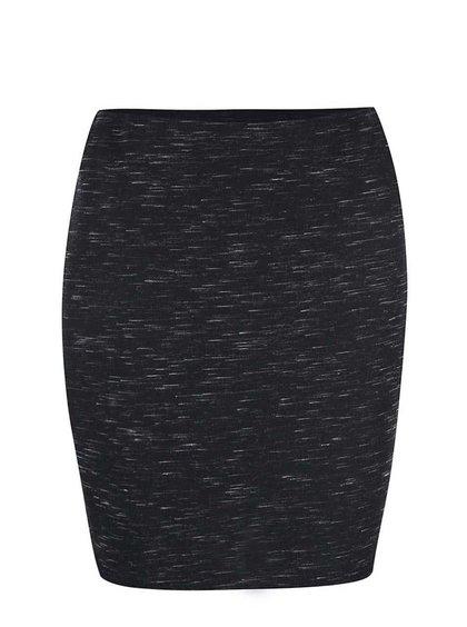 Černá žíhaná sukně New Look
