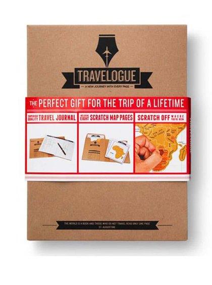 Jurnal de călătorie Luckies cu hărți răzuibile