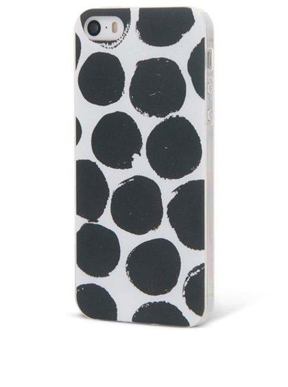 Černo-bílý ochranný kryt na iPhone 5/5S Epico Dotsie