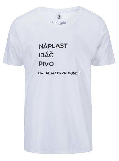 """""""Dobré"""" biele pánske tričko pre PrPom"""