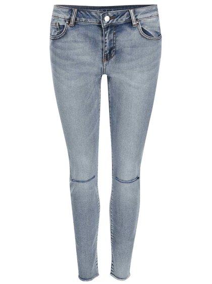 Modré džíny s dírami na kolenou VILA Crush