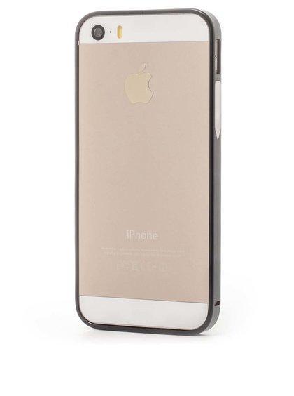 Černý hliníkový rámeček na iPhone 5/5s Epico Hero Hug