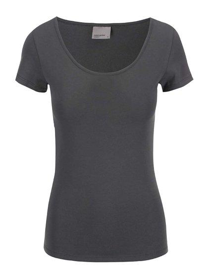 Khaki tričko s kulatým výstřihem Vero Moda Maxi My