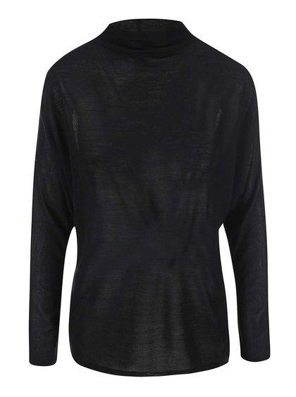 Černý lehký svetr se stojáčkem ONLY Emma