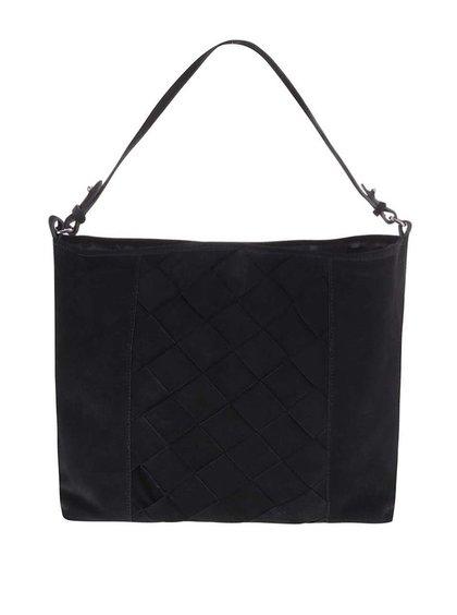 Pieces Jessie Black Leather Handbag