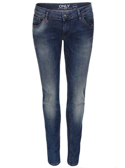 Jeanșii skinny albastru-decolorat ONLY Coral