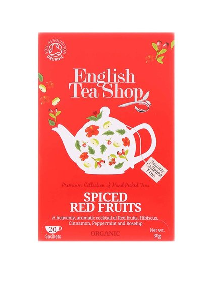 Ceai din fructe roșii condimentate organice English Tea Shop