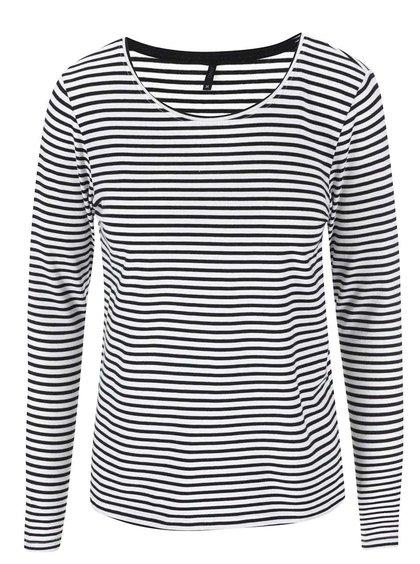Čierno-biele pruhované tričko s dlhými rukávmi ONLY Love