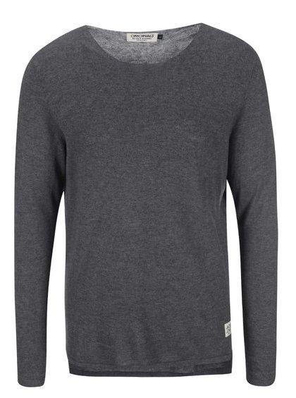 Tmavosivý sveter Jack & Jones Clean