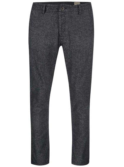 Šedé žíhané kalhoty Selected Magnus