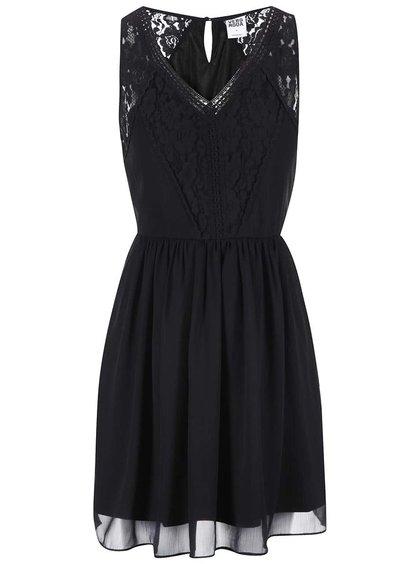 Čierne šaty s čipkou VERO MODA Freja