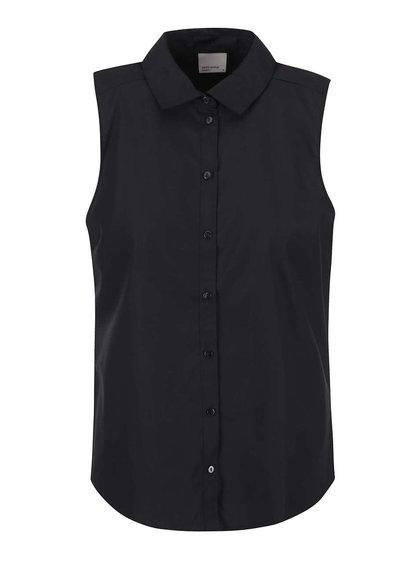 Černá košile bez rukávů Vero Moda Vega