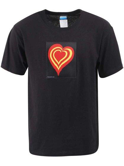 Čierne pánske tričko CYBweart Heart