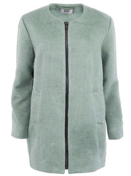 Zelený vlněný kabát VERO MODA Expert