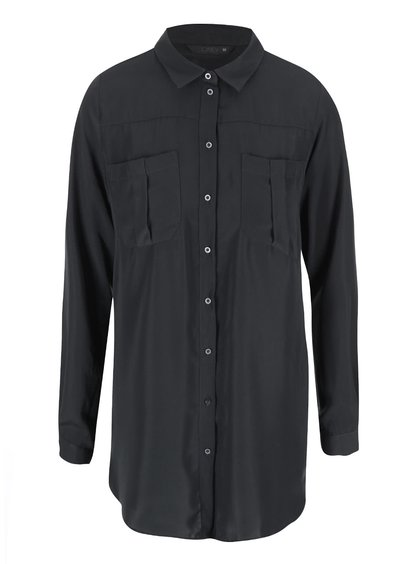 Tmavosivá dlhšia košeľa ONLY Bijou