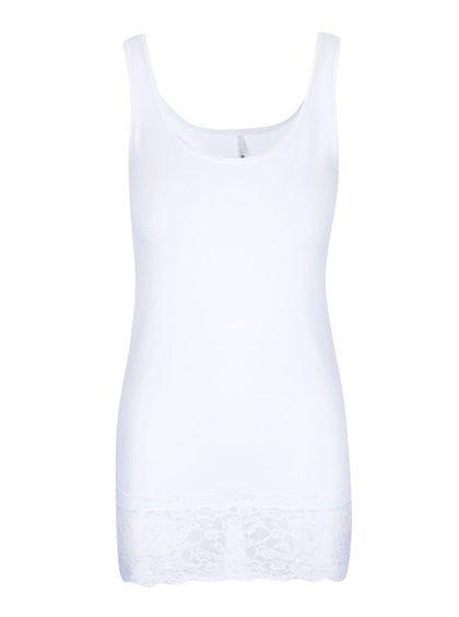 Biele tielko s čipkou ONLY Long Lace