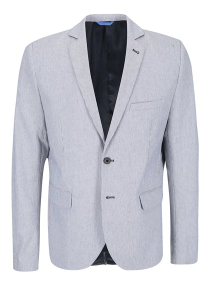 Bielo-modré pruhované sako Casual Friday by Blend