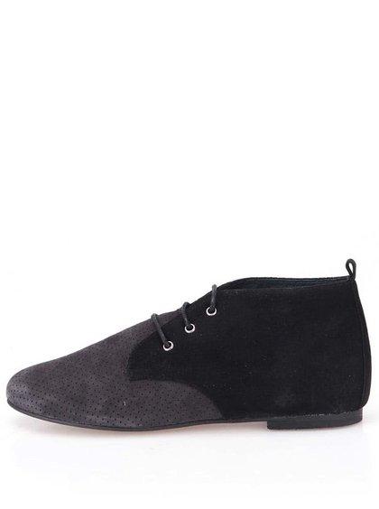 Pantofi Oxford Negri din piele întoarsă OJJU