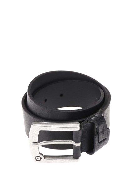 Černý kožený pásek Jack & Jones Greb